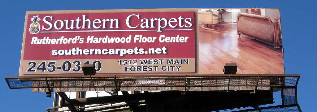 Billboard Ad Design - Hwy 74A in Forest City, NC